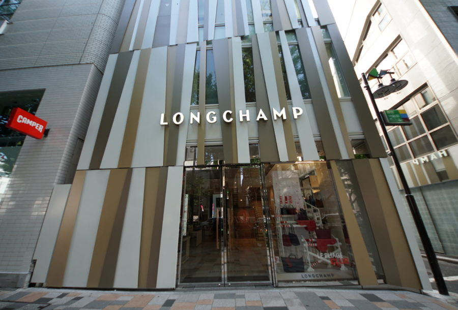LONGCHAMP LA MAISON OMOTESANDO ロンシャン 表参道の詳細な画像です。