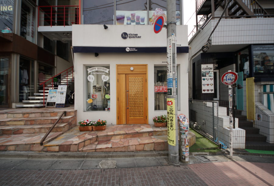 3/4 three quarter 原宿店の詳細な画像です。