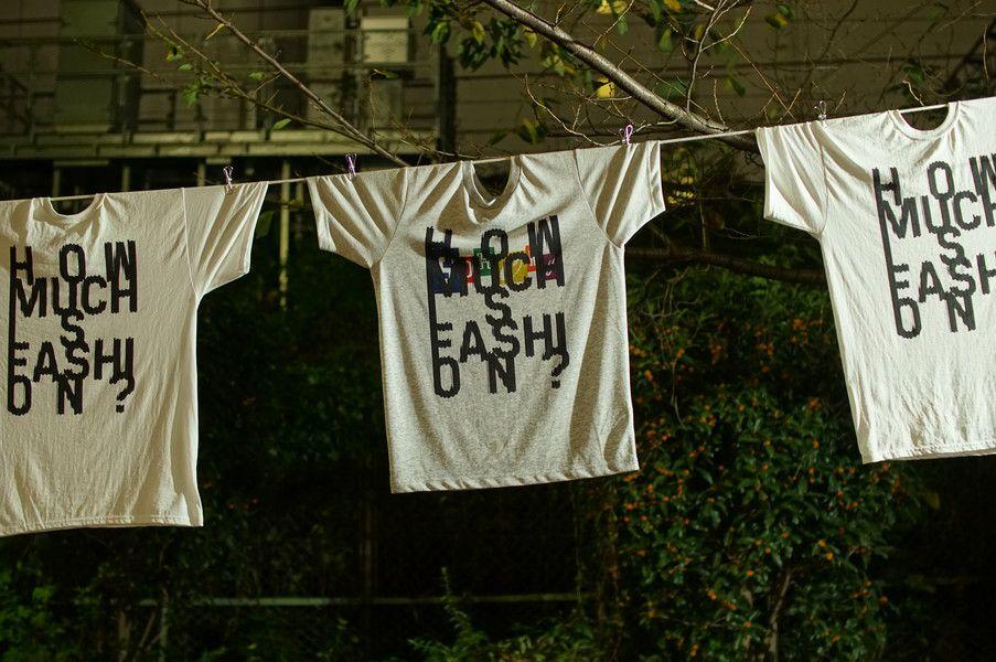 0円Tシャツ「HOW MUCH IS FASHION?」シブハラフェス